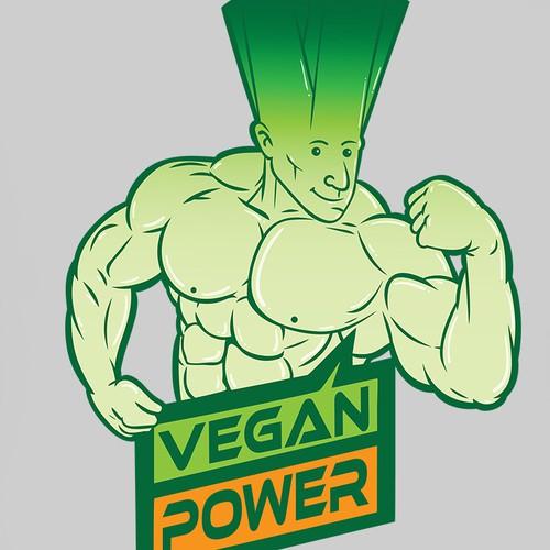 T-shirt design for vegan power