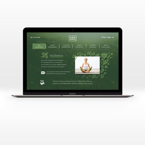 yoga website design