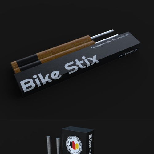 Packaging design for a bike support
