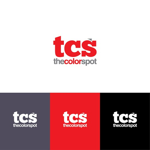 the color spot initial logo concept design