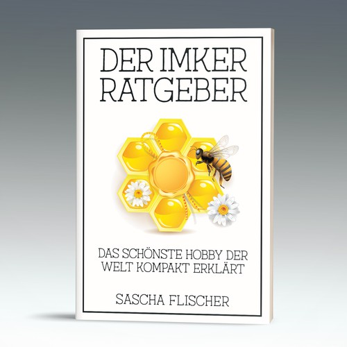 "Delicate, homespun cover proposal for a ""Beekeeper's Bible"" in German"