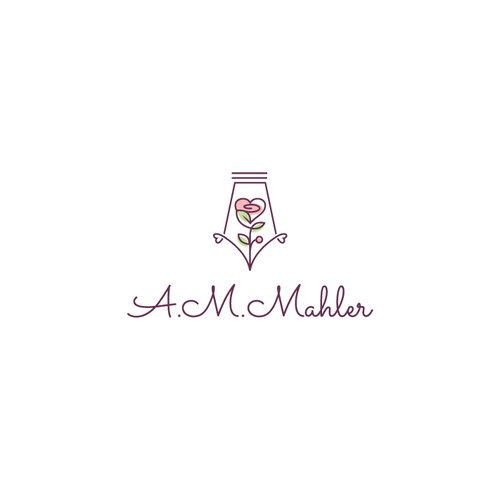 Feminine logo for a romance author