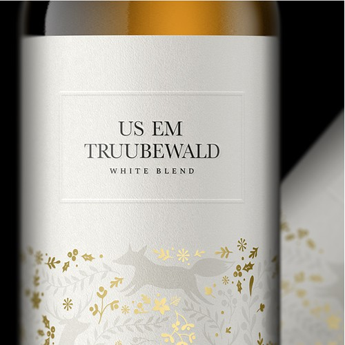 US EM - White wine label's
