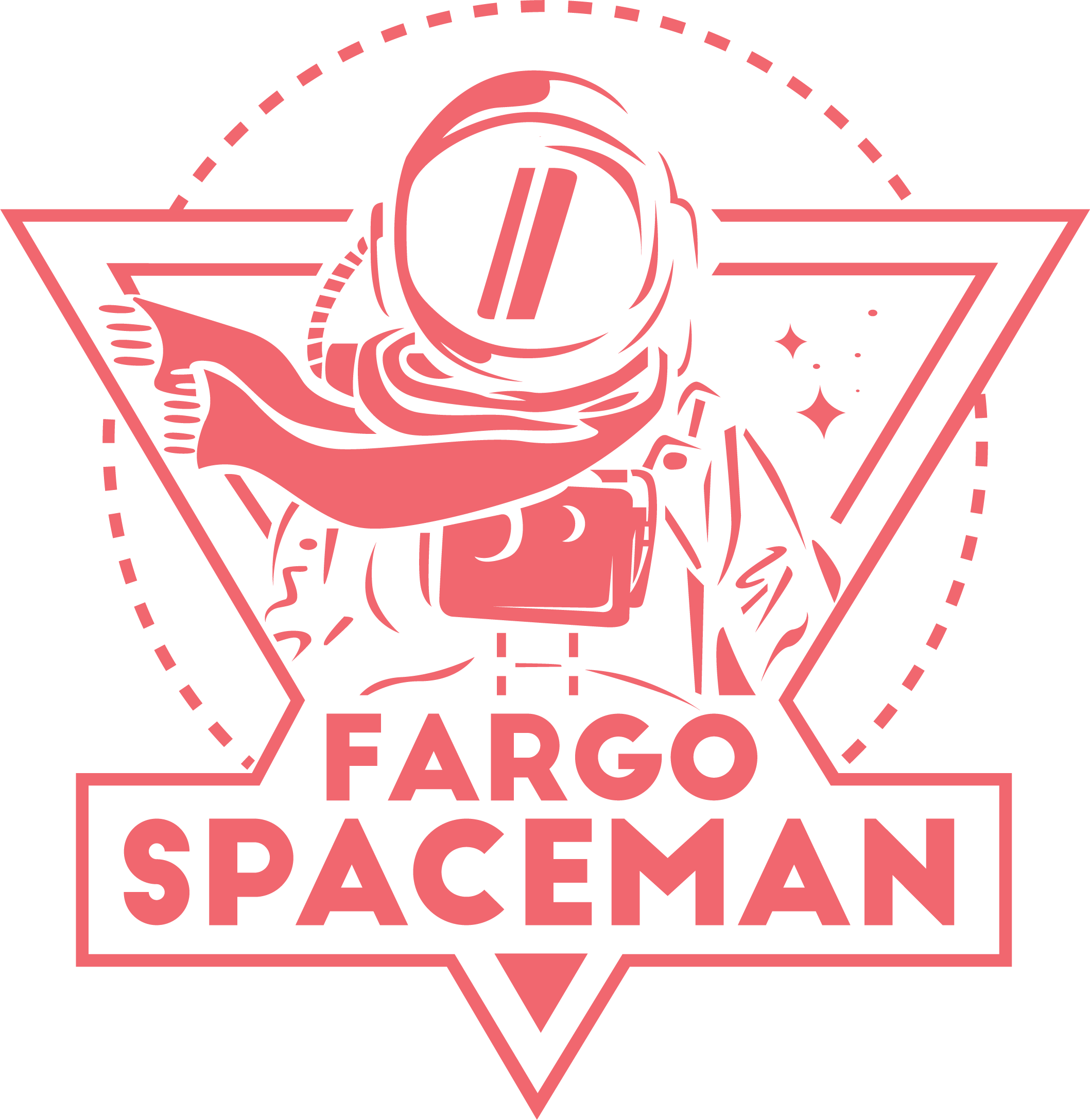 Exciting Spaceman logo for clothing