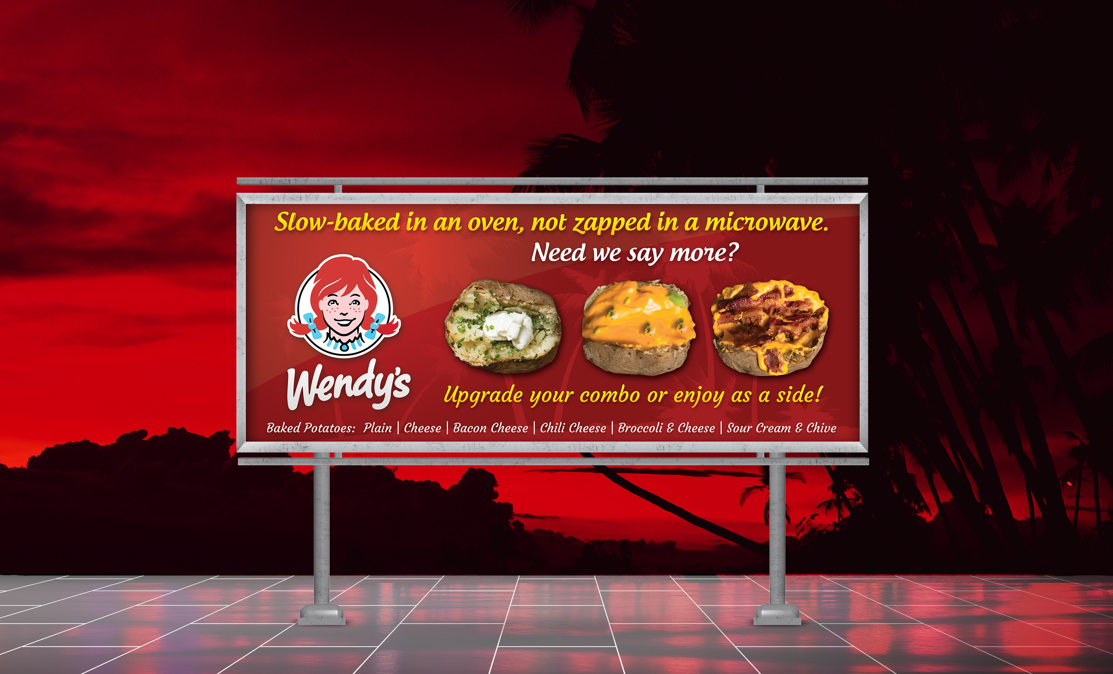 Wendy's Baked Potato Banner
