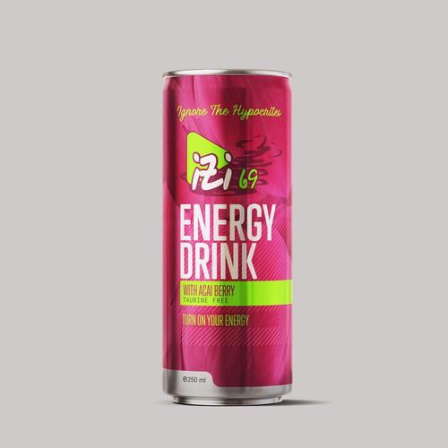 Beverage Slim Can Packaging Design