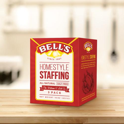 Bell's, packaging design