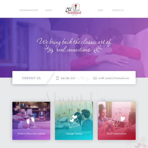 Web-design for Dating Service