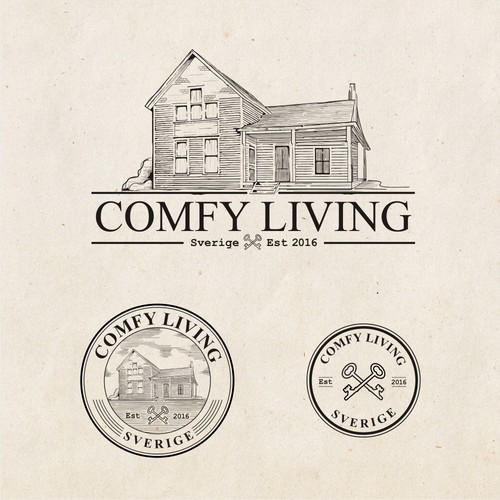 Old logo concept for Comfy Living