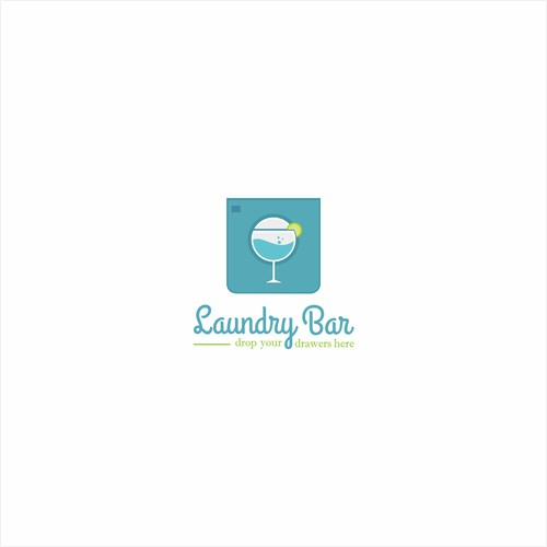 logo concept for laundry services