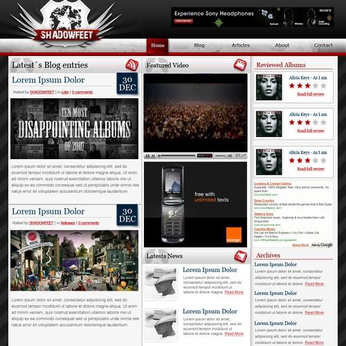 Online Magazine/Music Blog Design & Logo