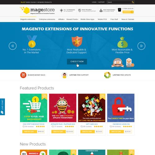 Need best of the best designer to redesign Magestore.com