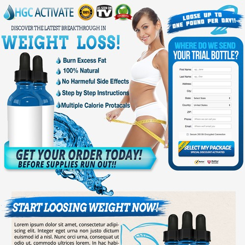 HCG Diet Drops Landing Page