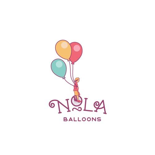 logo concept for balloons company