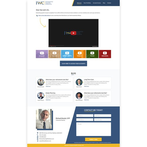 Lifetime Income Solution Landing Page