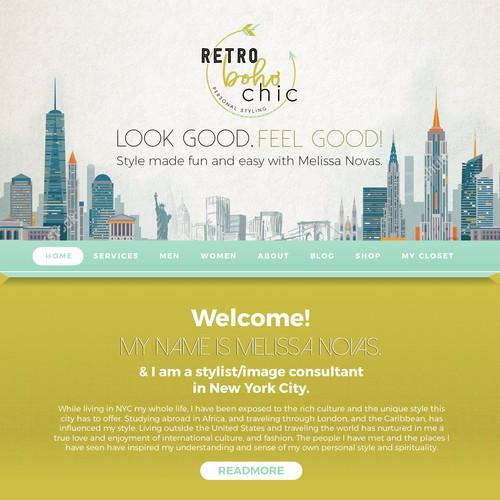 Website for a Fashion Designer