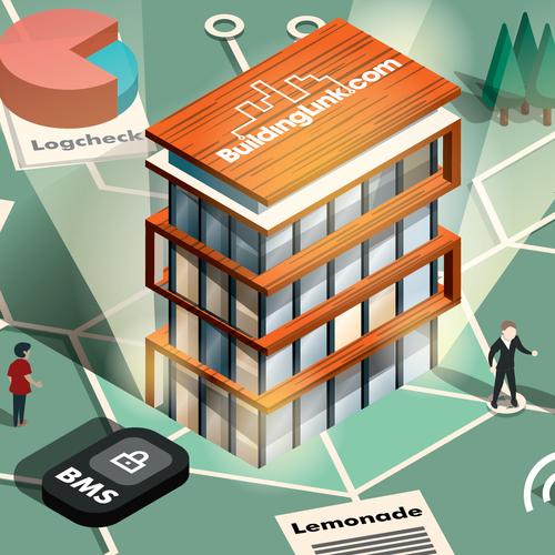 Illustration for BuildingLink newsletter