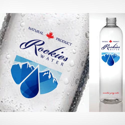 label for new Canadian Mountain Spring Water