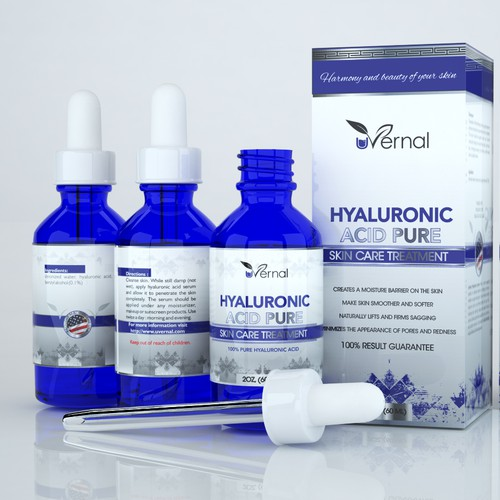 Hyaluronic Acid Pure label and box design