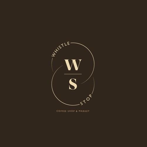 Logo Design for Whistle Stop Coffee Shop