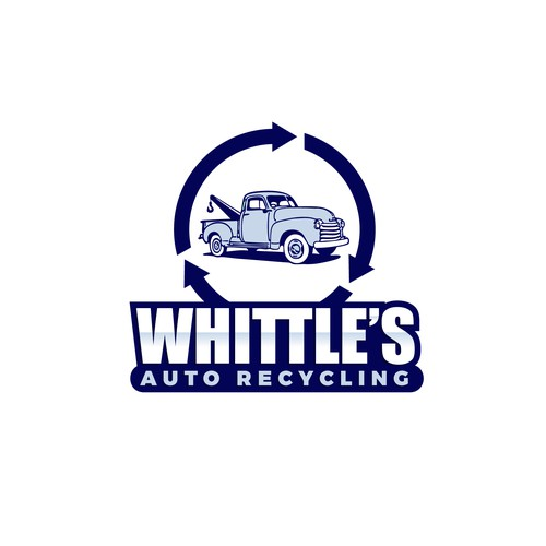 Logo design for Whittle's Auto Recycling.