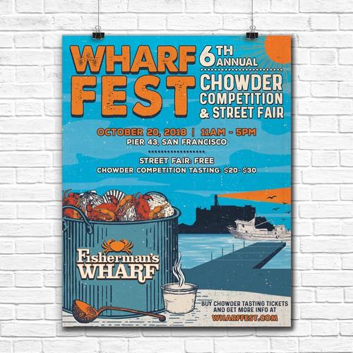 Wharf Fest Annual Poster