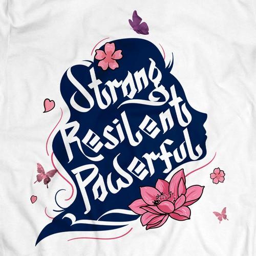 Women tshirt art concept