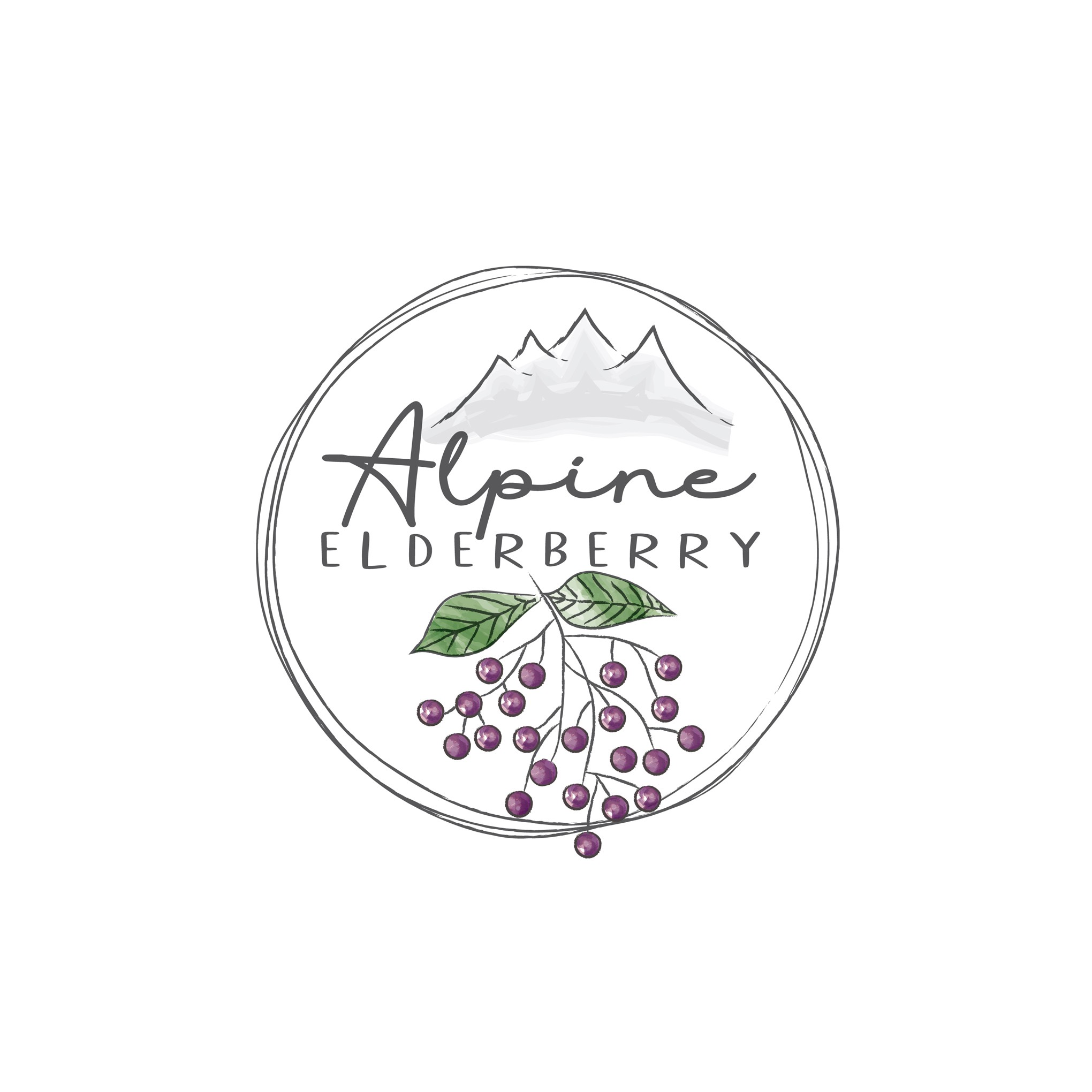 Logo for Elderberry Syrup small business startup