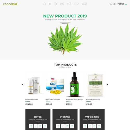 Ecommerce Store for Cannabis