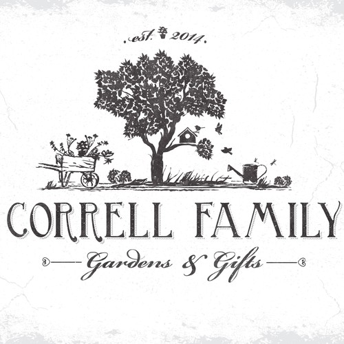 Vintage inspired logo for a start-up Family owned Garden Center