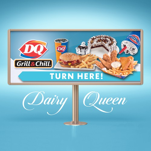 Dairy Queen - Turn Here Banner