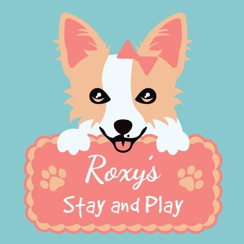 Cute Doggy Daycare Logo