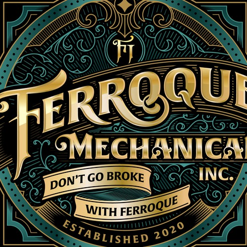 Logo Concept for Ferroque Mechanical Inc.