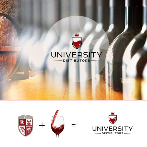 Create a branding mark for a luxury wine product importer