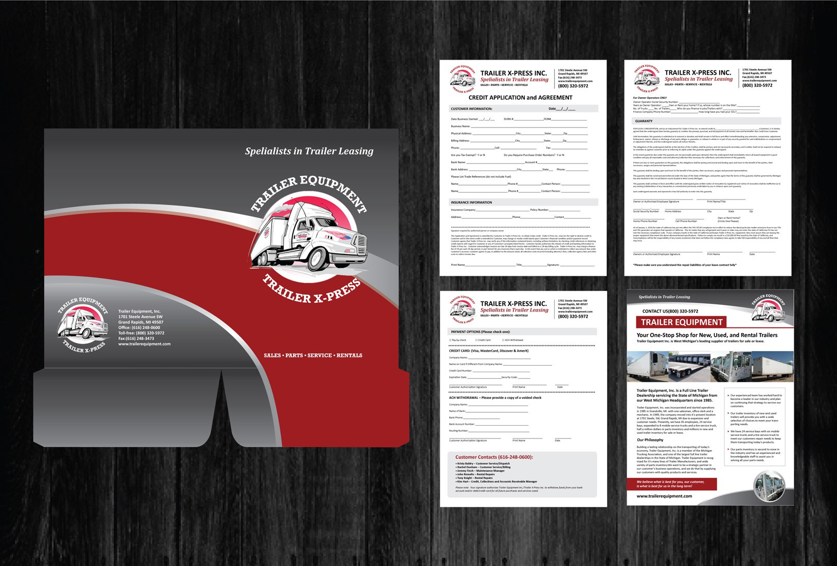 Create the next Print Handout for Trailer X-Press and their new/potential customers!
