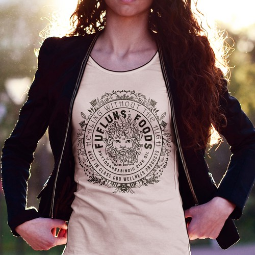 Looking for an upscale, t-shirt for veggie yoga crowd.