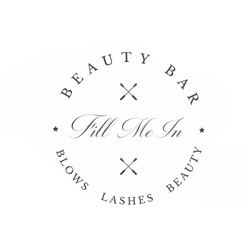 FillMeIn Beauty Bar Logo