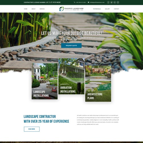 Concept for Pacific Landcare Design, Inc.