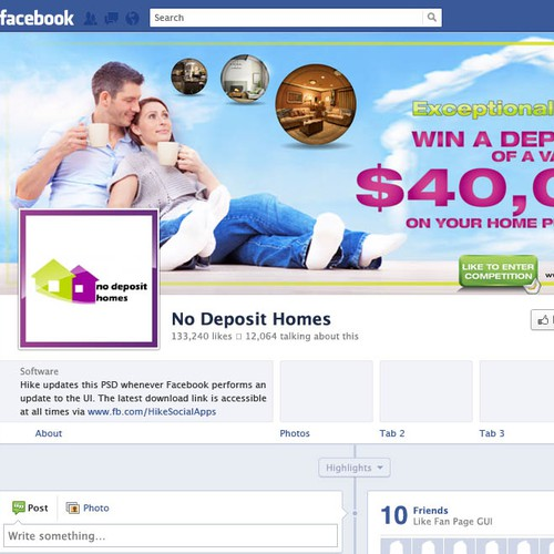 NO DEPOSIT HOMES FACEBOOK COVER
