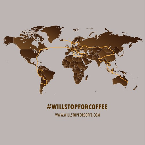 World tour Map for WillStopForCoffee