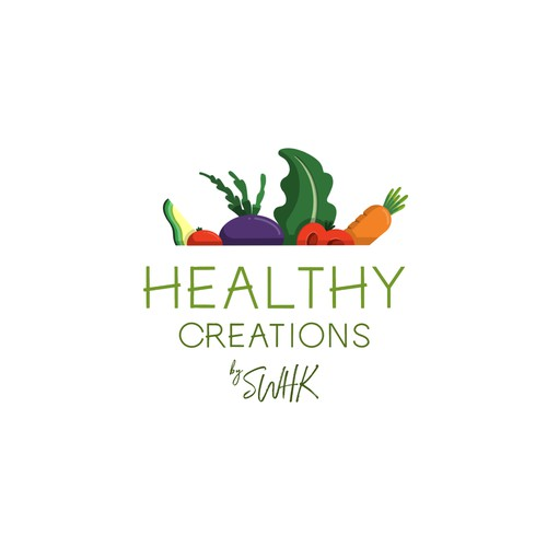 Tasty logo concept for health food brand.