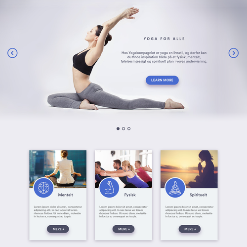 Gorgeous Home Page for a Yoga Website