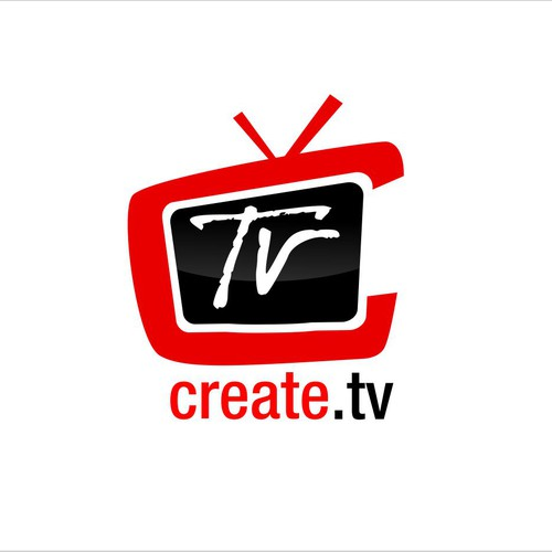 A simple concept of create.tv logo