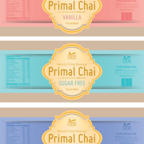 New product label wanted for Primal Cafe