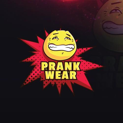 PrankWear logo concept.