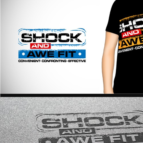 logo for SHOCK AND AWE FIT fitness program