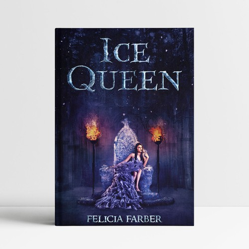 Super Cool Cover of an Ice Queen on an ice throne
