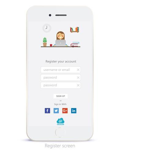 Register and login for parents educational app
