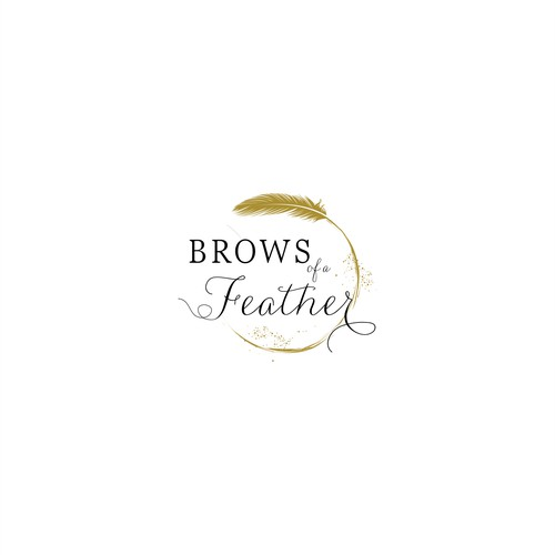 A girly and pretty logo for Brows of a Feather