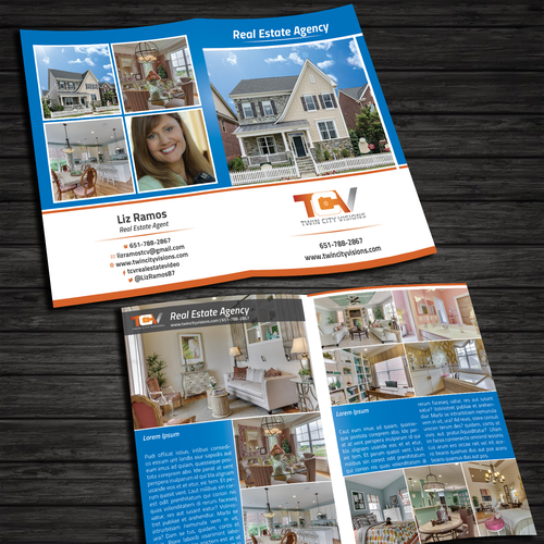 Create Adobe InDesign template for Real Estate Brochures